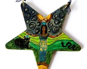 Handmade Nuit Egyptian Sky Goddess