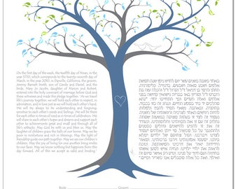 Personalized Ketubah: Tree of Life III