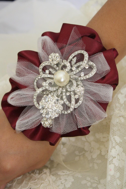 Wrist Corsage Brooch Wrist Corsage Wedding Bridal By Abbyplace