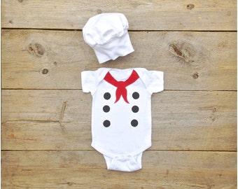 Baby French Chef Costume, Chef Onesie