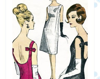 1960s dress pattern - Vogue 6085 - evening sheath dress - bust 36""