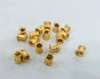 Gold Spacer Beads , Gold Plated Brass 10 Pcs G128