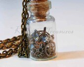 Steampunk Time In A Bottle Necklace