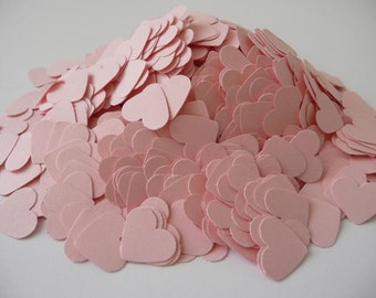 Paper hearts, 1000 die cut hearts, wedding confetti hearts, pink hearts
