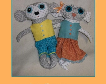 Lamb Doll Pattern  - pdf epattern Tutorial
