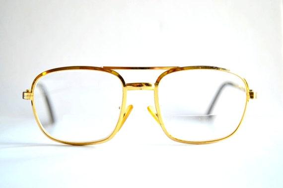 70s Grandpa Gold eye glasses metal frames