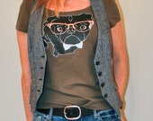 Pug Shirt - Cute Nerd Black Pug Wearing Bow Tie and Glasses T-shirt