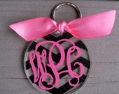 Personalized acrylic key chain CHEVRON PATTERN