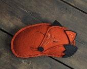 ON SALE - Red Fox - Stuffed Woodland Animal - Renewable Wool Felt - Vulpes Vulpes
