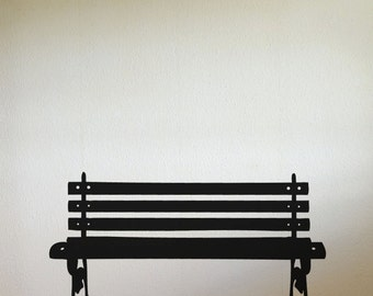 Vinyl Wall Decal Sticker Park Bench item 889m