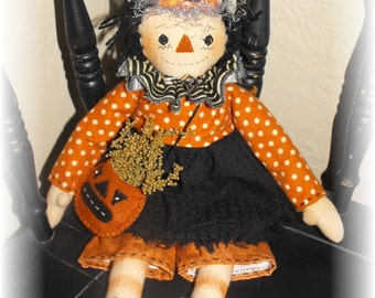 "Primitive ""Hallie Ann"" Raggedy Doll instant download e-Pattern"