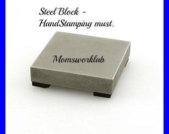 Steel Block - Hand Stamping- Rivet Must.- hand stamping supplies - hand stamping tools - rivet tools