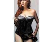 Curvy Beauties - Christina Hendricks - ART PRINT - 8 x 10 - By Mixed Media Artist Malinda Prudhomme