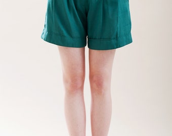 Womens shorts, green shorts, High waisted shorts, Summer shorts, vintage ispired
