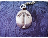 Silver Tyr Rune Necklace - Silver Pewter Tyr Rune Charm on a Delicate Silver Plated Cable Chain or Charm Only