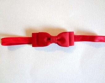 Red Bow Headband/ Red BabyHeadband/ Snow White Headband/ Baby Hair Accessories/ Girls Hair Accessories/ Red Bow/ Snow White/ Baby Girls