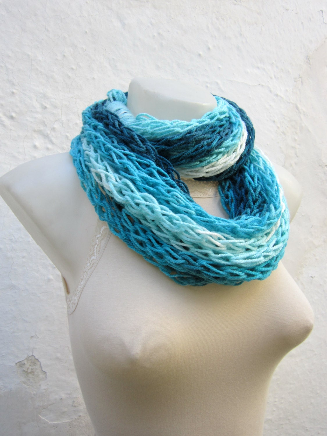 infinity scarf finger knitting scarf chunky scarves