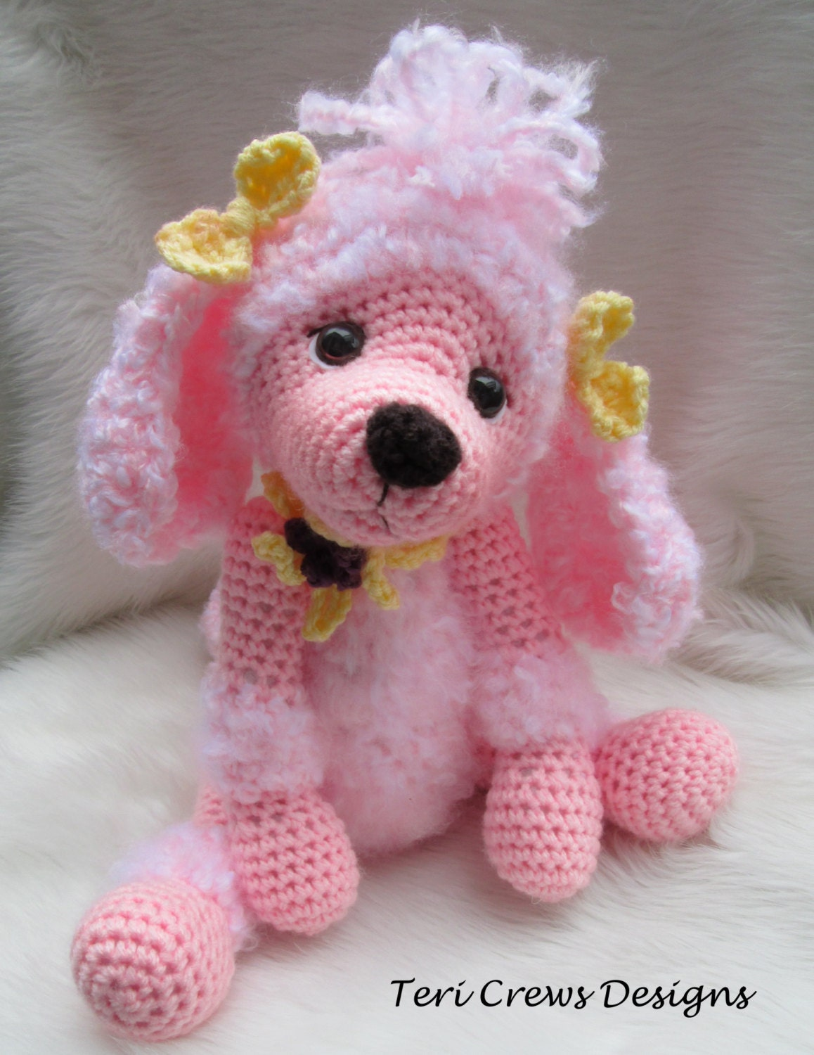 Amigurumi Free Patterns Owl : Crochet Pattern Poodle Dog by Teri Crews instant download PDF