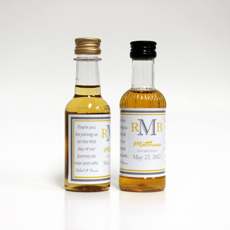 375 Custom Mini Liquor Bottle Labels Order for iselahdez