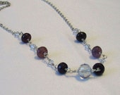 Rarity - Purple and Violet Agate and Crystal Necklace