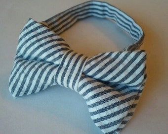 Boys Bow Tie--Seersucker--Ring Bearer--Custom Colors to Choose From