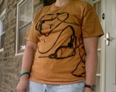 Reserved Listing for Julie Hildreth XXL Unisex/Mens Mustard Gold Drill T-shirt