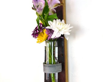 "VESSEL - ""Isotria"" - Wall Hanging Wine Barrel Flower Holders - 100% recycled"