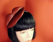 Red Leather Kiss Me Fascinator