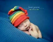 Rainbow Newborn Knit Hat, Celebrate PRIDE, Rainbow Baby Hat, Newborn Photography Props