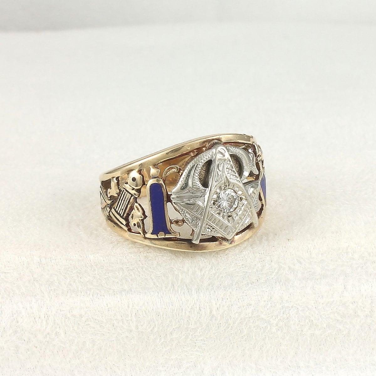 masonic antique 10k gold ring 1910
