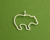 Bear Pendant, Sterling Silver, Made To Order