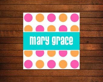 Personalized Gift Stickers - Set of 24 personalized calling cards, business cards, mommy cards, gift enclosure cards, hang tags or gift tags