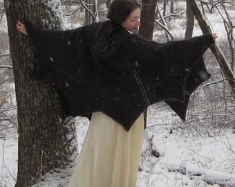 PDF Bat Cape Knitting Pattern - Instant Download