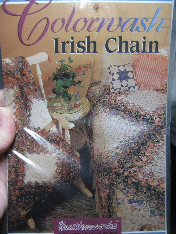 Colorwash Irish Chain Quilt Pattern New