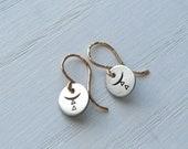 Silver Circle Earrings, Whyzee