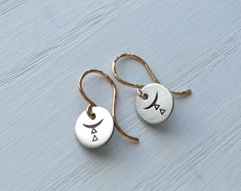Mixed Metal Earrings Minimalistic