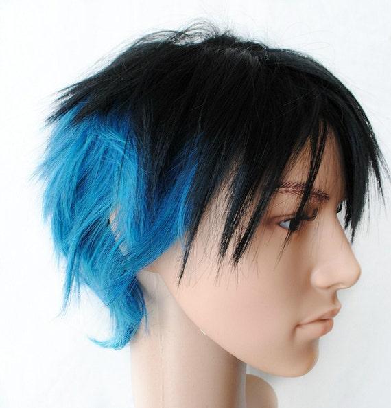 Blue Black Hair Men