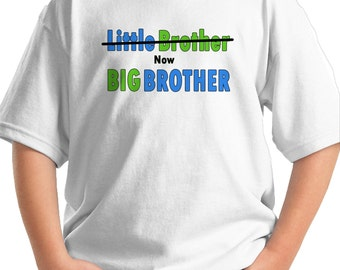 Big Brother Shirt - Big Brother Announcement Shirt - LITTLE BROTHER shirt now Big Brother Shirt Big Bro tshirt big brother clothing