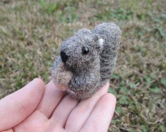 Miniature Squirrel - Needle Felted Animal