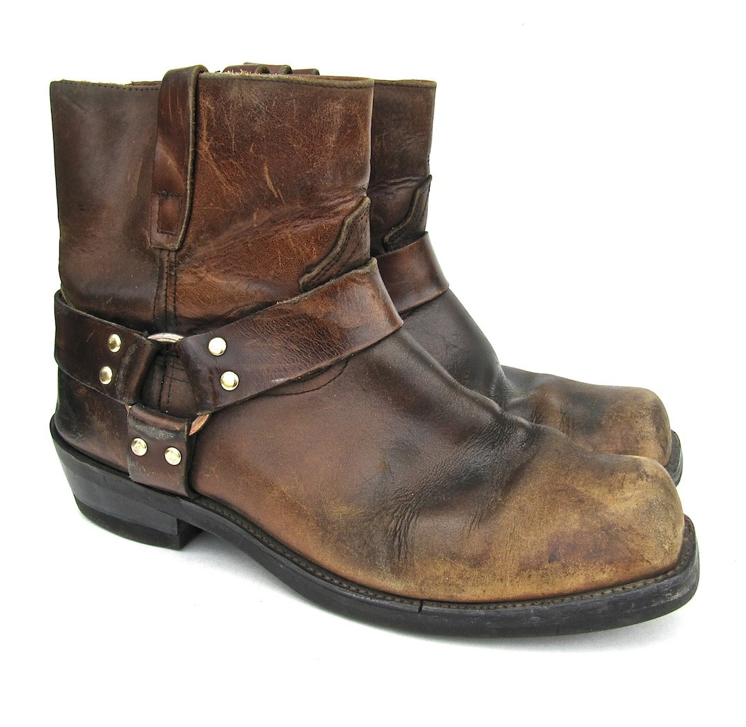 brown durango motorcycle harness boots for