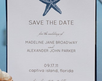 PRINTABLE - Save the Date, Coastal Theme, Starfish, Beach Wedding, Destination Wedding