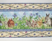Bunny Table Runner Quilted fabric from Wilmington Prints