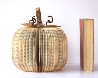 large BOOK PUMPKIN /// made to order