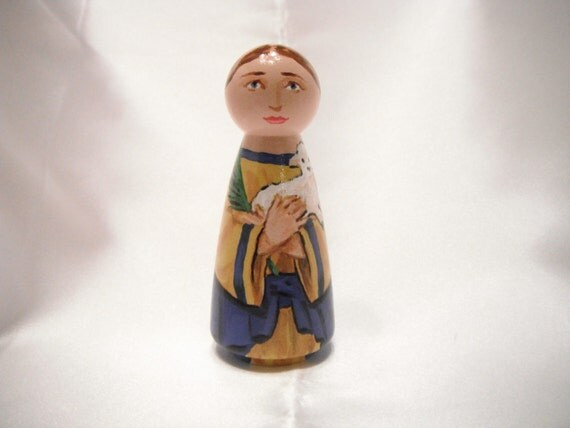 Saint Agnes - Catholic Saint Doll - made to order
