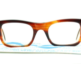Vintage 60's deadstock Tart Boeing tortoiseshell eyeglasses with sleeve - FREE DOMESTIC SHIPPING