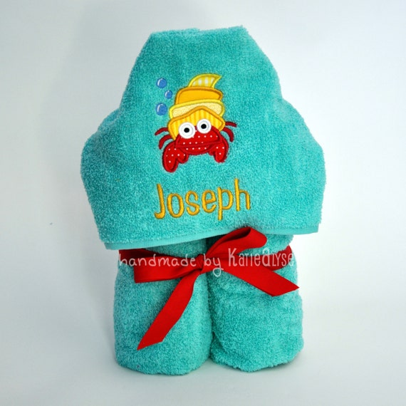 Personalized Beach Towel For Toddler: Personalized Kids Hooded Bath Or Beach Towel Choose By