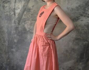 1950s Pink Jumper: Women's Association Volunteer Uniform