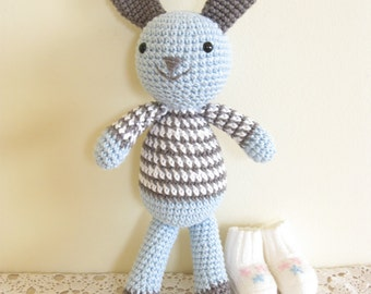 Easter BUNNY Plush Toy, Crochet Bunny Toy, Amigurumi Bunny Rabit, Stuffed Animal, Gift for Kids
