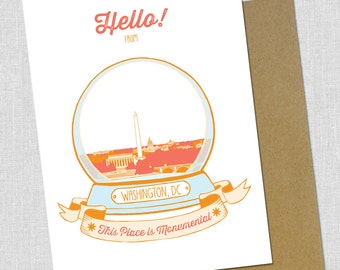 Hello From Washington DC cards - Pack of 5