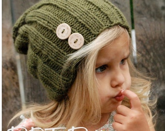 Knitting PATTERN-The Blaine Slouchy (Toddler, Child, Adult sizes)